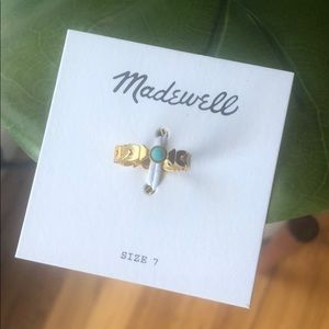 Madewell Gold Ring Size 7 NWT